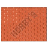 Plastic Sheet - Red Brick