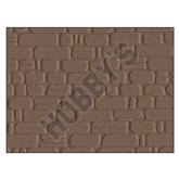 Embossed Plastic Sheet - Stone Courses Grey