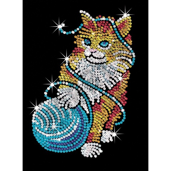 Sequin Art - Kitten