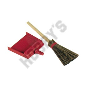 Red Dustpan And Broom