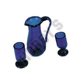 Glass Pitcher And Cups