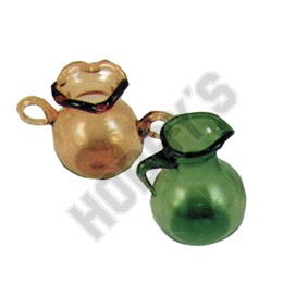 Amber And Green Glass Pitcher