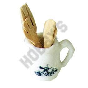 Ceramic Can & Kitchen Utensils