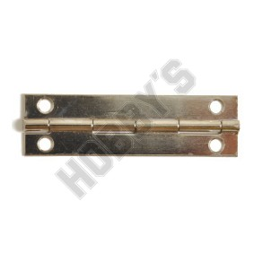 Nickel Butt Hinges - Screw Fixing