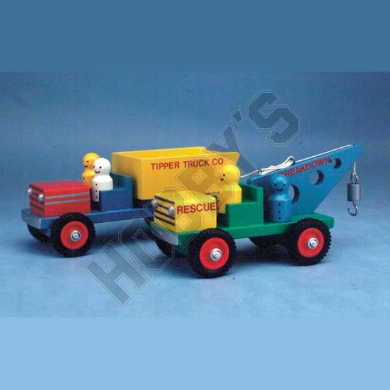 Crane & Dump Truck Plan