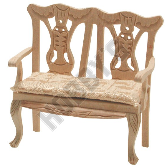 Double Chair with Cabriole Legs