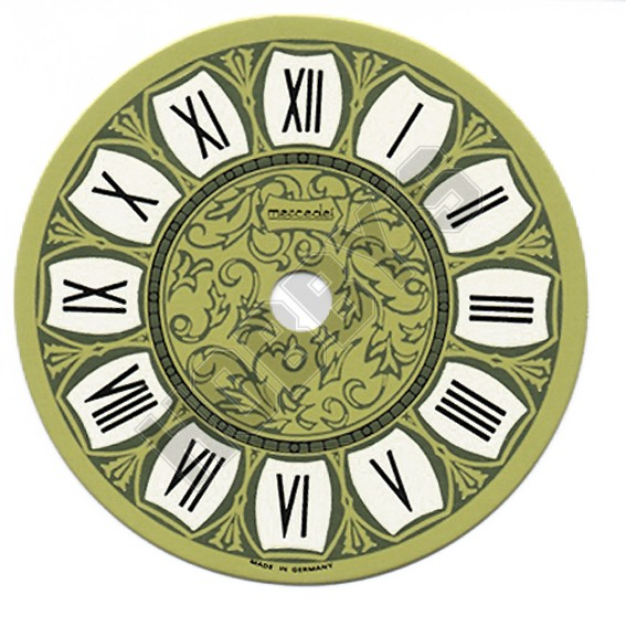 Printed Clock Dial - Gold/Black