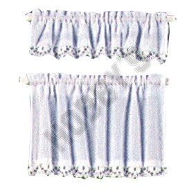 White Cottage Set Curtains