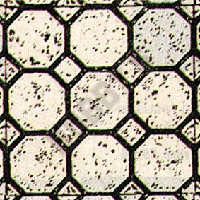 Octagon Wallpaper - Black On White
