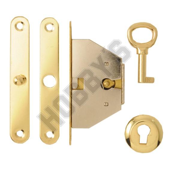 Brassed Box Lock and Key Set