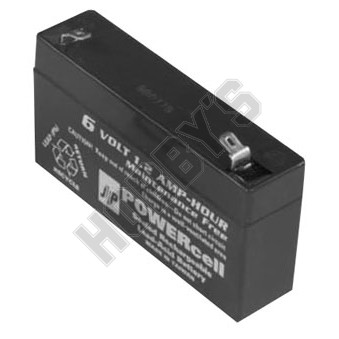 Powercell Rechargeable Gel Battery 6V-1.2Ah