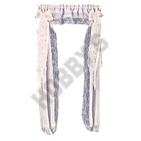White Victorian Priscillas Curtain