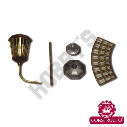 Octogonal lanter kit Brass.