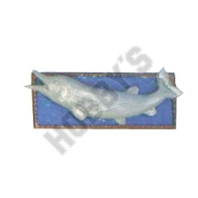 Fish Wall Plaque - Metal Miniature