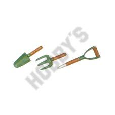Garden Trowel Fork - Metal Miniature