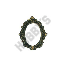 Small Oval Frame - Metal Miniature