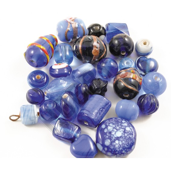 Indian Glass Bead Mix - Purple