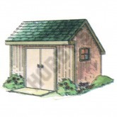 Saltbox Storage Shed Plan