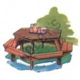 Six Sided Picnic Table Plan