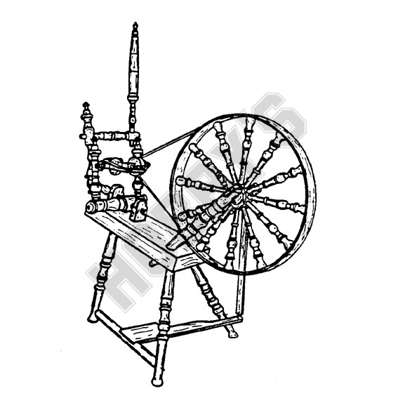 Sloping Spinning Wheel Plan