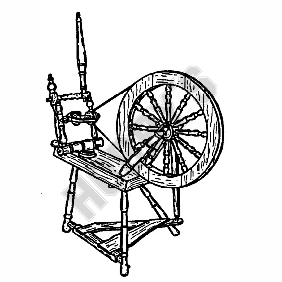 English Spinning Wheel Plan