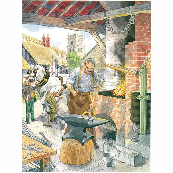 The Blacksmith - Decoupage