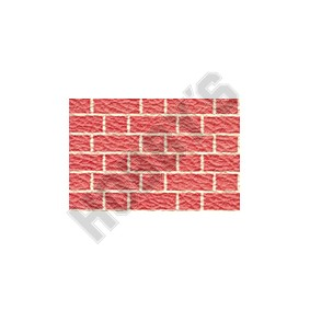 Embossed Red Brick Wallpaper