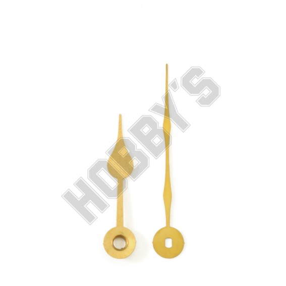 Polished Brass Clock Hands - 75mm