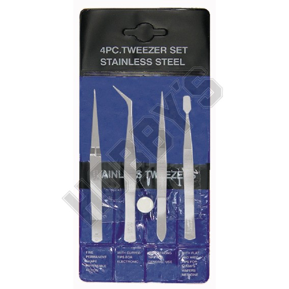 Tweezer Set 4pc