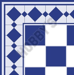 Tiles - Blue On White