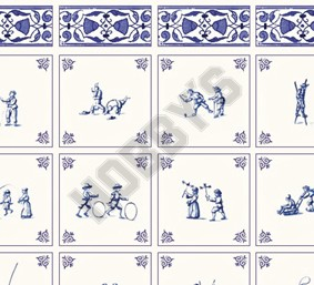 Delft Childhood Games Wallpaper