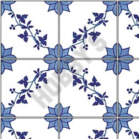 Tile Sheet - Blue/White