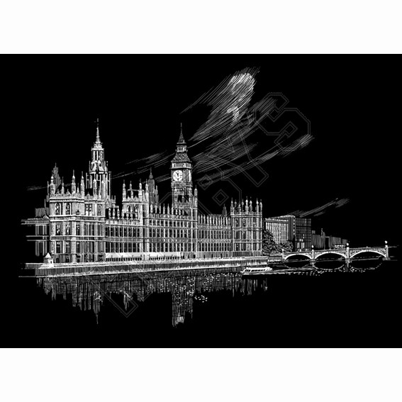 Big Ben & Parliament - Engraving Art