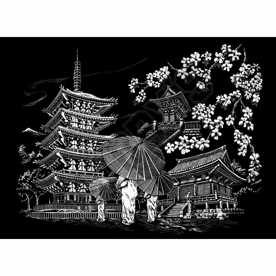 KyotoTemple - Engraving Art