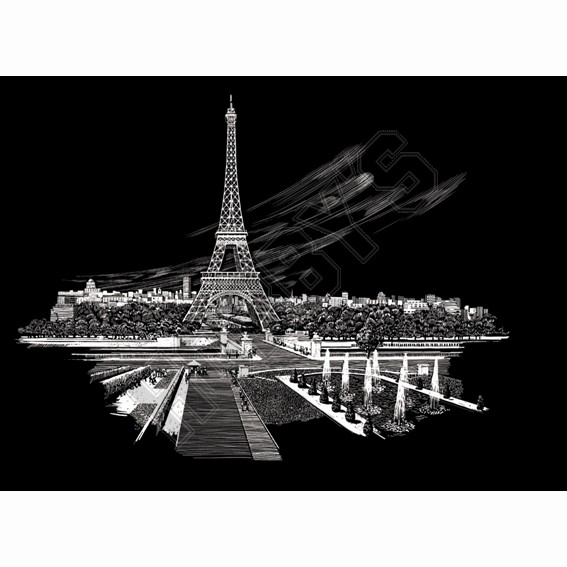 Eiffel Tower-Engraving Art (