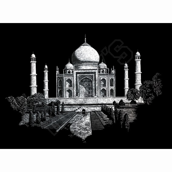 Taj Mahal - Engraving Art
