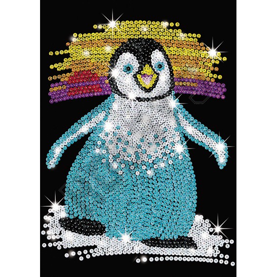 Junior Sequin Art - Penquin