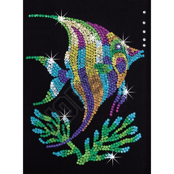 Sequin Art - Angel Fish