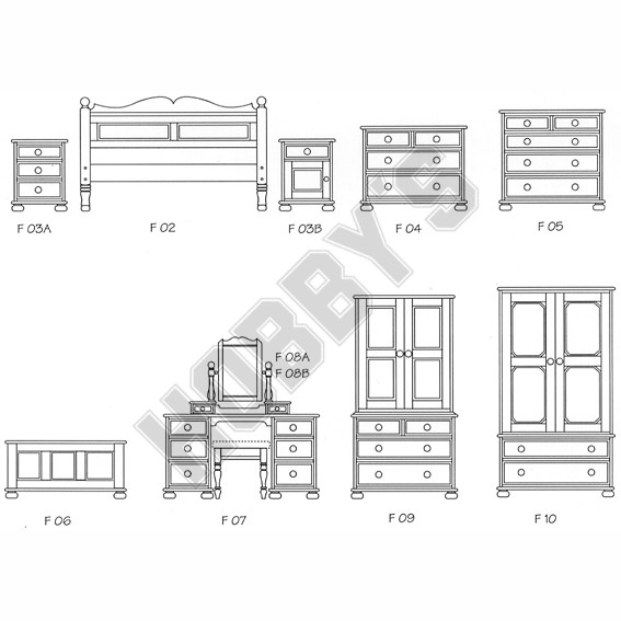 Furniture For Bedrooms Plan Pack