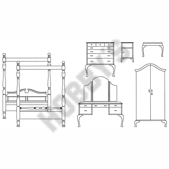 'Queen Anne' Furniture Plan Pack