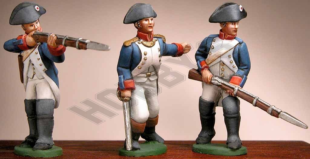 French: Officer, Infantry Advancing & Firing