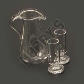 Jug and 2 Glasses
