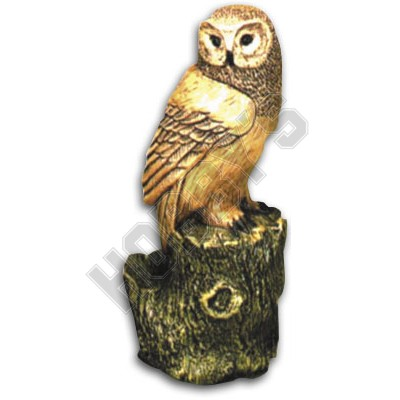Garden Moulds-Owl On Log