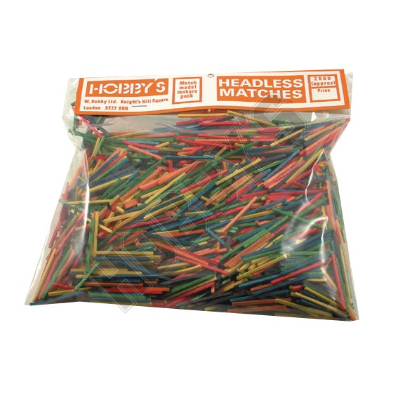 Coloured matchstick pack