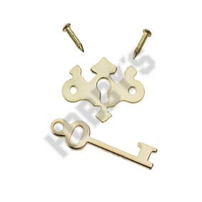 Gold-Plated Chippendale Keyplate
