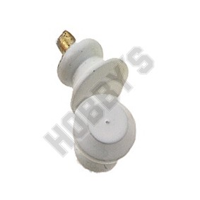 White Enamelled Brass Knob