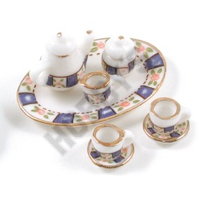 Patterned China Tea Set
