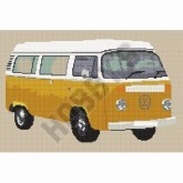 Cross Stitch - Camper Van with Bay Window