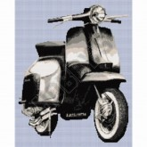 Lambretta Scooter - Cross Stitch