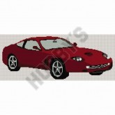 Cross Stitch - Red Ferrari